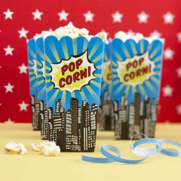 Pop Art Superhero Popcorn Boxes - pack of 8